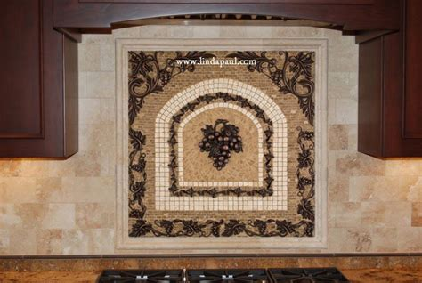 Kitchen Backsplash Mosaic Tile Grapes Mosaic Tile Medallion Kitchen Backsplash Mural