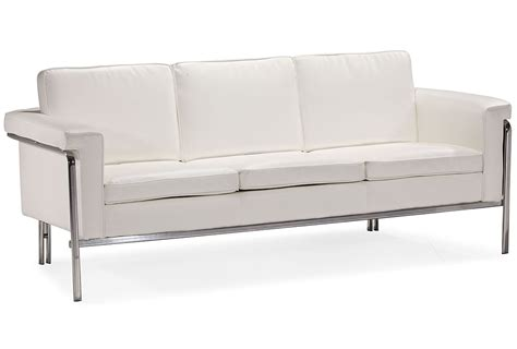 modern white leatherette sofa set single leather sofas