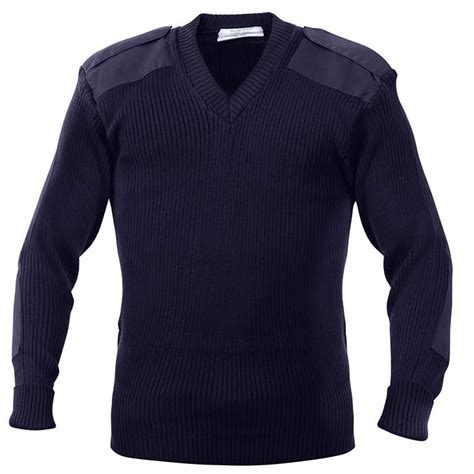 Sweater Marsmellow Navy Blue navy blue acrylic v neck commando sweater