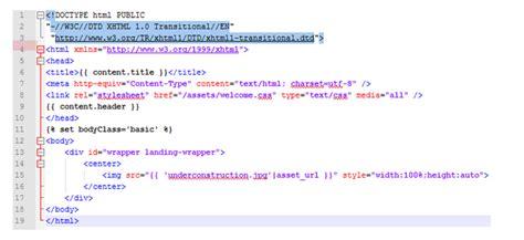membuat html under construction tutorial membuat halaman under construction pada welcome