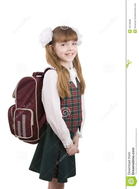 school girl uniform stock photos pictures royalty free school girl with schoolbag education royalty free stock