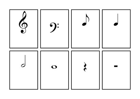flashcards for music notes free printable flashcards template music symbol flash cards printable music pinterest