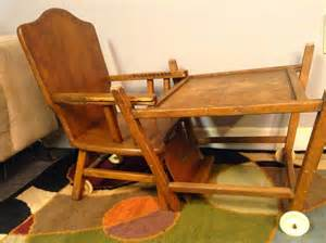 Antique High Chair Desk 1950 S Thayer Tops For Tots High Chair Convertible Desk