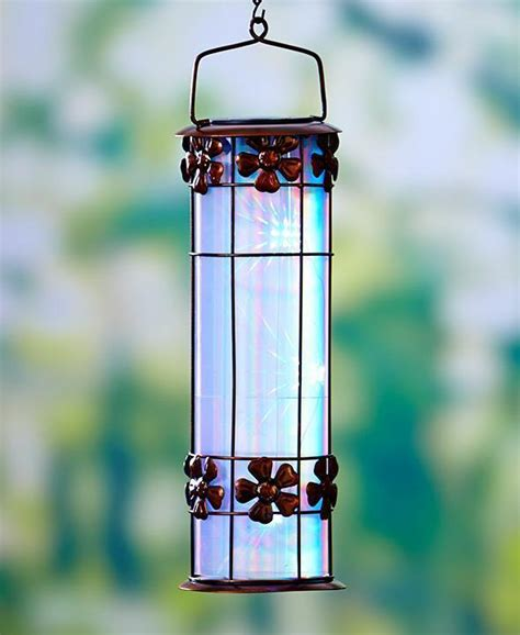 3d solar prism flower lantern hanging outdoor garden home