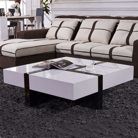 White Coffee Table Ebay Modern Designer High Gloss White Coffee Table 4 Drawers Ebay
