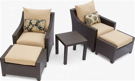 patio furniture with ottomans delano 5 piece outdoor chair and ottoman with