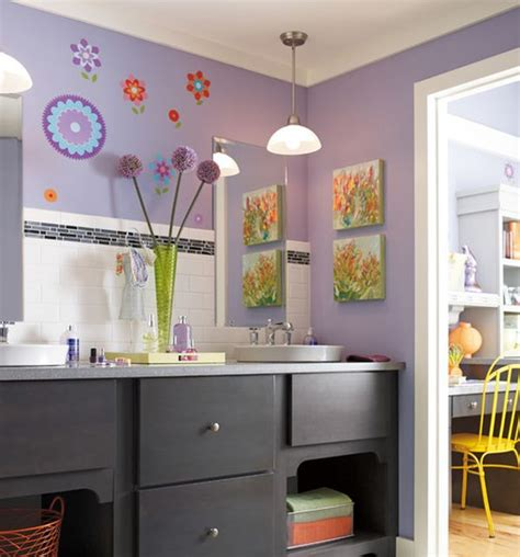 kids bathroom color ideas purple kids bathroom with le color and attractive wall