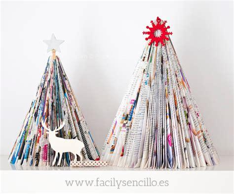 arboles de navidad hechos con revistas diy 183 crear un 193 rbol de navidad con revistas f 225 cil y sencillo