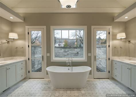 White and Gray Bathroom   Transitional   bathroom   Cameo