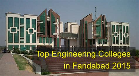 Mba In Faridabad by Top Engineering Colleges In Haryana