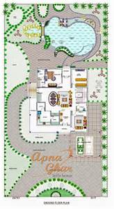 bungalow house design with swimming pool apnaghar house design