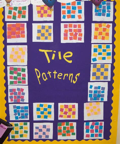 eyfs pattern lesson ideas tile patterns classroom display photo photo gallery