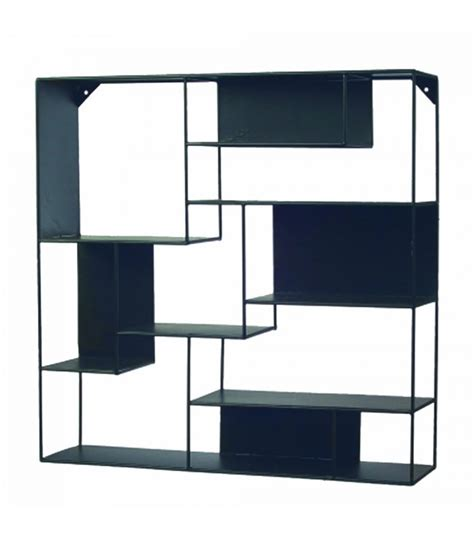 etagere metal 201 tag 232 re murale en m 233 tal noir graphique wadiga