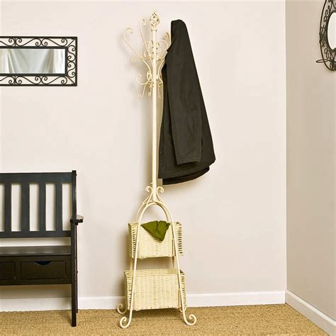 standing coat rack stylish storage   wardrobe