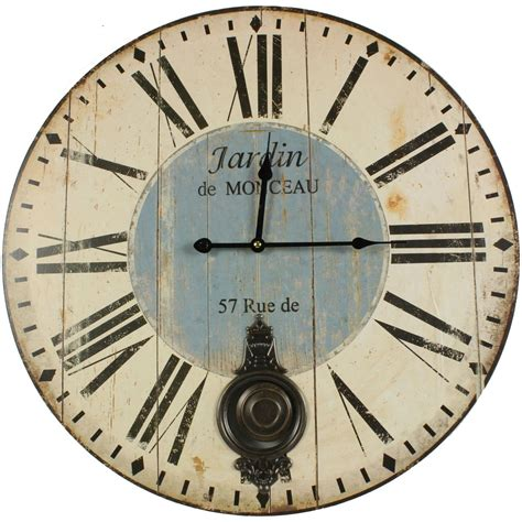 horloge de jardin horloge ancienne balancier jardin de monceau 58cm