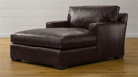 axis ii leather chaise lounge libby espresso crate  barrel