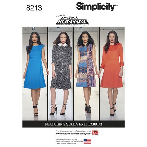 pattern runway review simplicity 8213 misses inspired by project runway dresses