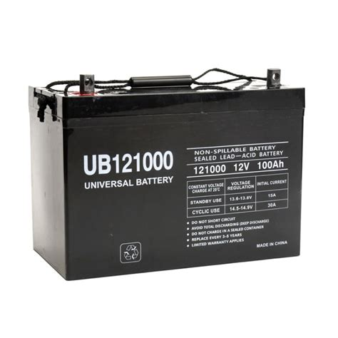 100 Cycle Battery Price - ub121000 45978 universal 12v 100ah cycle sealed agm