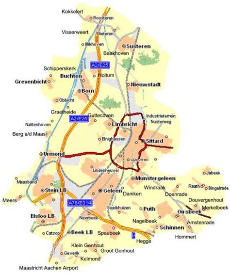 netherlands limburg map sittard geleen map and sittard geleen satellite image