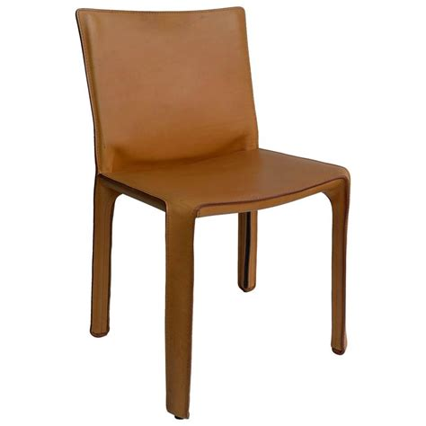 Cab Chair by Cassina Cab Chair In Cognac Leather By Mario Bellini At