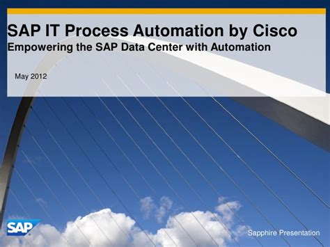 sap it process automation by cisco