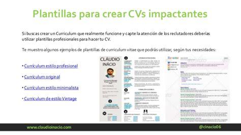 Plantillas De Curriculum Vitae Impactante C 243 Mo Crear Un Curriculum Vitae Perfecto En 2017