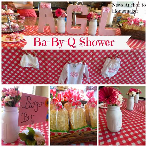 Co Ed Baby Shower by Ba By Q Shower Co Ed Barbecue Themed Baby Shower News Anchor To Homemaker