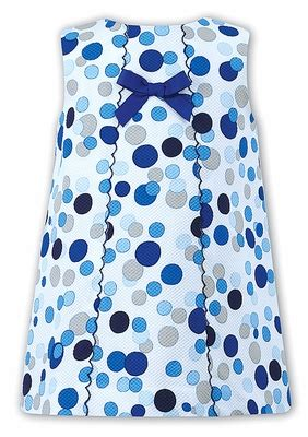Polka Blue Bergo Busui Ay louise blue polka dots a line dress with scallop and bow