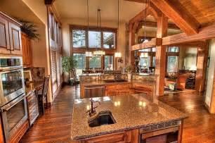 Large Open Floor Plan Homes floor plan open great room on barndominium floor plans kitchens