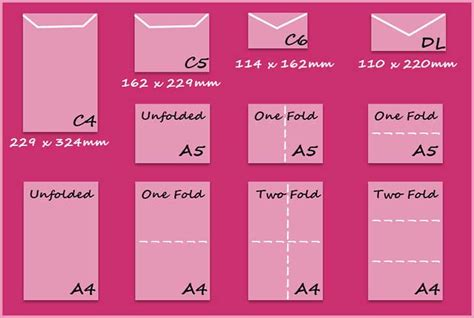 card sizes envelope sizes create and craft