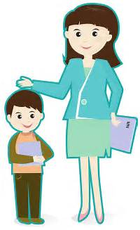 Free Teacher Student Clip Helping Clipart 784