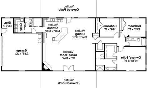 Open Floor Plan Ranch Style Homes 28 Stunning Open Ranch House Plans House Plans 82505
