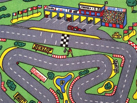 Race Car Track Rug Roselawnlutheran Car Rug For