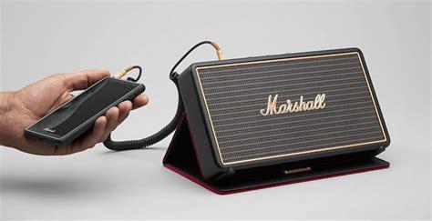 Speaker Marshall Mini marshall headphones introduces stockwell mini speaker that s big on sound