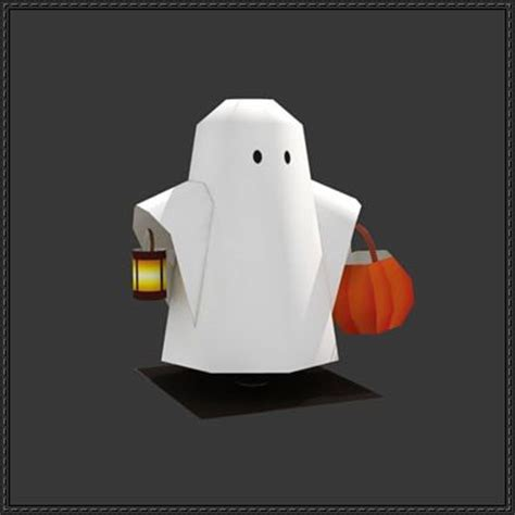 Ghost Papercraft - new paper craft trick or treat ghost free