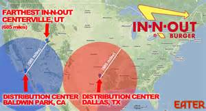 in n out california map in n out s new dallas distribution center means it could