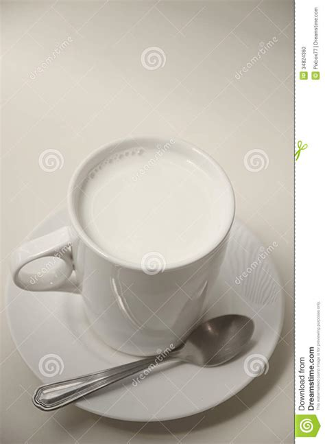 hot milk cup stock photo image