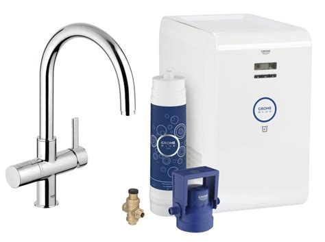 Grohe Kitchen Sink Grohe Blue Single Lever C Spout Kitchen Sink Mixer Tap Chrome