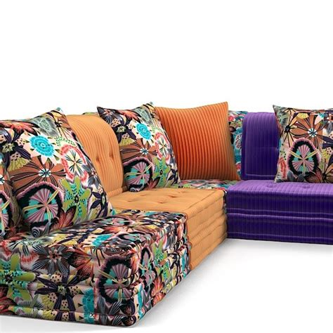 mah jong couch roche bobois sectional 3d model