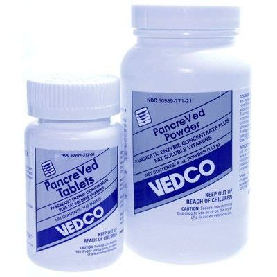 pancreatic enzymes for dogs pancreved pancreatic enzyme powder and tablets by vedco