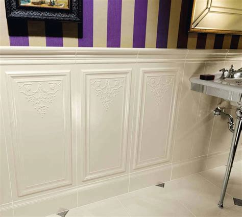 wainscot tile an alternative to wood wainscoting in bathrooms tiletr