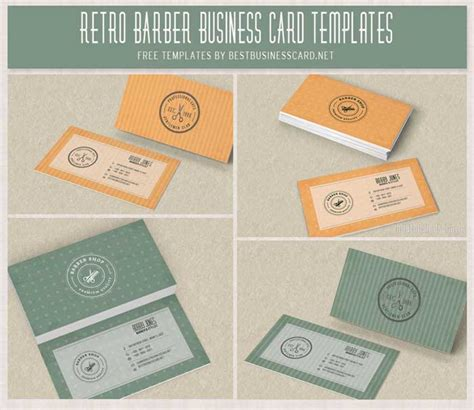 barber business card template psd 4 retro barber shop psd business card templates best