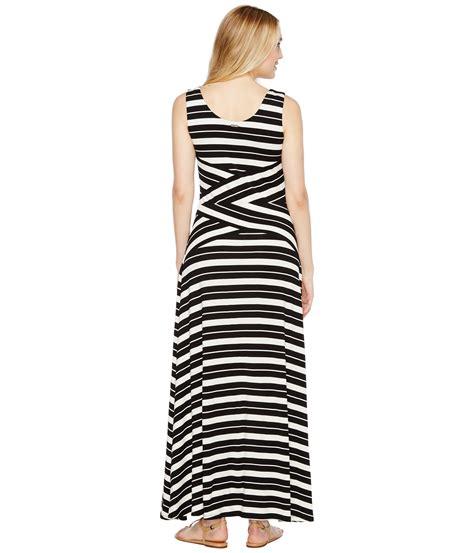 Calvin Maxy calvin klein striped crisscross maxi dress at zappos
