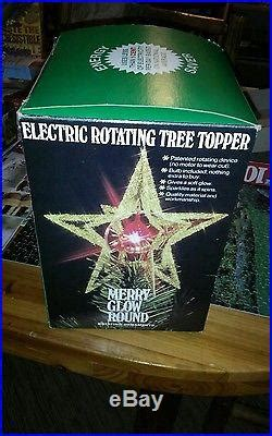 merry glow rotating christmas tree topper vintage merry glow sputnik rotating tree topper blue