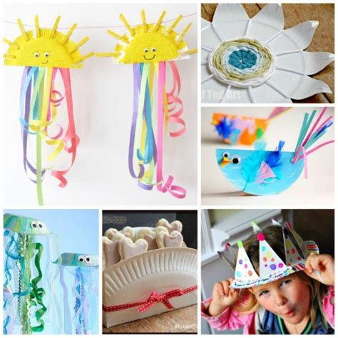 Paper Plate Arts And Crafts - frozen paper plate craft invitations ideas
