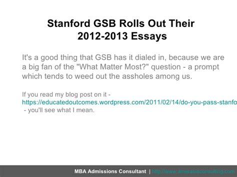 Stanford Mba No Grade Disclosure by Stanford Gsb Rolls Out Their 2012 2013 Essays Makes Yogi