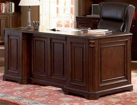 Home Office Executive Desk In Rich Dark Finish By Coaster Home Office Executive Desks