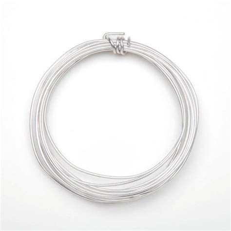 wire gauges for jewelry aluminum jewelry wire 14 3 yards silver