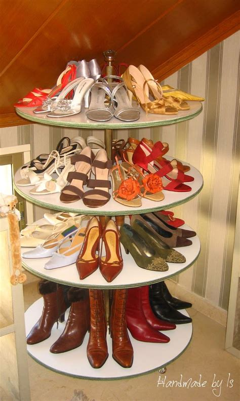 diy lazy susan shoe rack diy shoe rack i need this domestic goddess