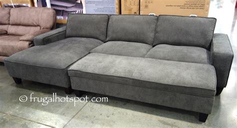 costco chaise sofa with storage ottoman 799 99 frugal